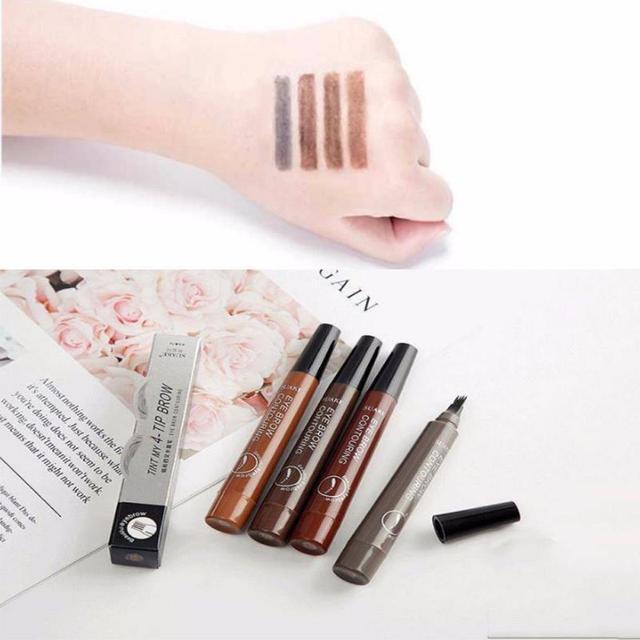 SUAKE 4-color long-lasting eyebrow pencil waterproof four-head split sketch eyebrow cream easy to color quick-drying eye makeup