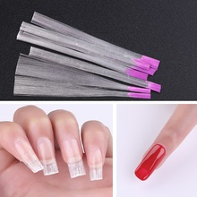 PinPai 5.5cm*10pcs Fiberglass Silk Nail Form Acrylic Tips Extension Gel Manicure Accessory Glass Fiber Nail Building Paper Tool цены