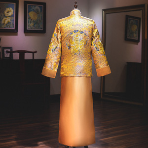 Image 3 - 2020 Sale Mao Suit Clothing Male New Groom Collection Married Chinese Style Dress In The Spring Of 2020 Mens Men Golden Xiuhe