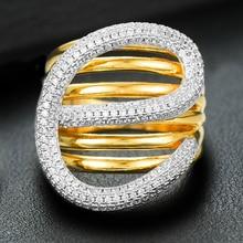 GODKI 2019 Charm Monaco Design Korean Twist Stackable Rings for Women Cubic Zircon Finger Rings Beads Ring Boho Beach Jewelry