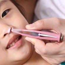 Bebê dig booger clipe crianças limpar orelha nariz umbigo pinças de segurança pinças de segurança segurança segurança suprimentos de limpeza de pinças de segurança com luz led