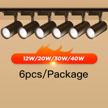 Projecteur Led sur Rail en aluminium, éclairage pour maison et magasin, 12W 20W 30W 40W, 220v Cob