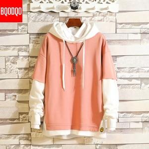 Image 2 - 5XL Hoodies Sweatshirts Men Fake 2PAC Cotton Hooded Japanese Style Sweatshirt Mens Hip Hop Brown Causal Hoodiee Xxxtentacion