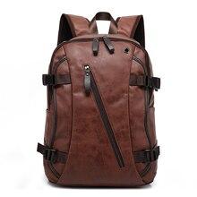 Nuova annata degli uomini di stile di modo zaino di cuoio DELLUNITÀ di elaborazione borse per studenti di scuola borsa del computer di viaggio zaini