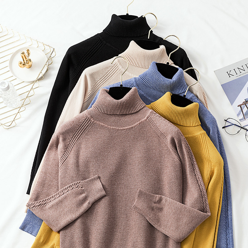 Women's Sweaters In Autumn, Knitted Sweaters In Winter, Tall Necks In Winter, Clothes In Winter, Women's Strong Bridges