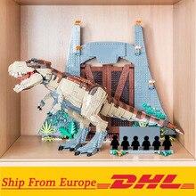Creador del Parque de la era Jurásica Rampage Tyrannosaurus Rex conjunto compatible con 75936 bloques de construcción de juguete regalo de Navidad