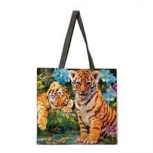 Многоразовая сумка для покупок forest tiger женская модная пляжная
