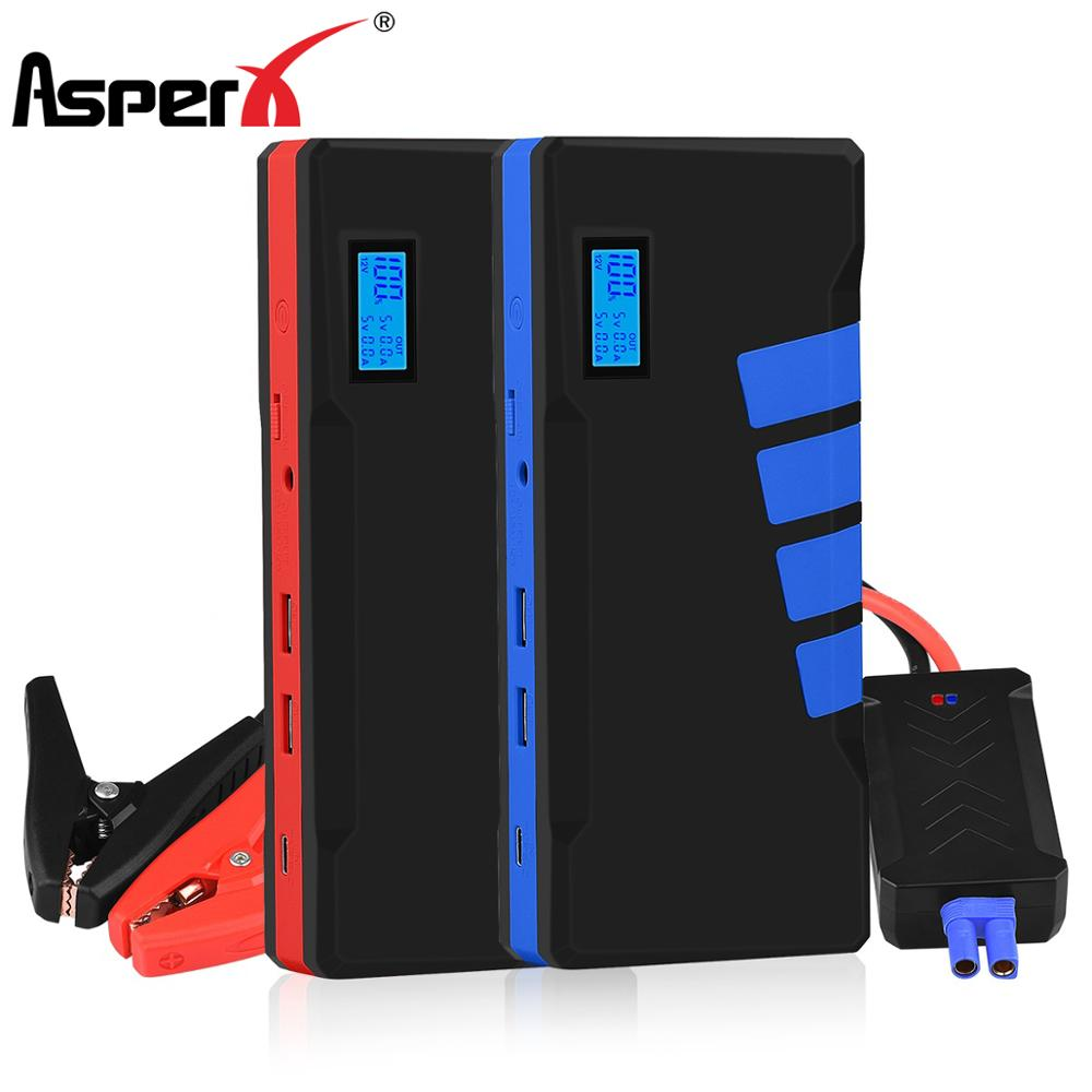 AsperX Car Jump Starter 20000mAh 1500A Battery Charging Power Bank Car Booster Auto Starting Device Vehicles Launcher Led