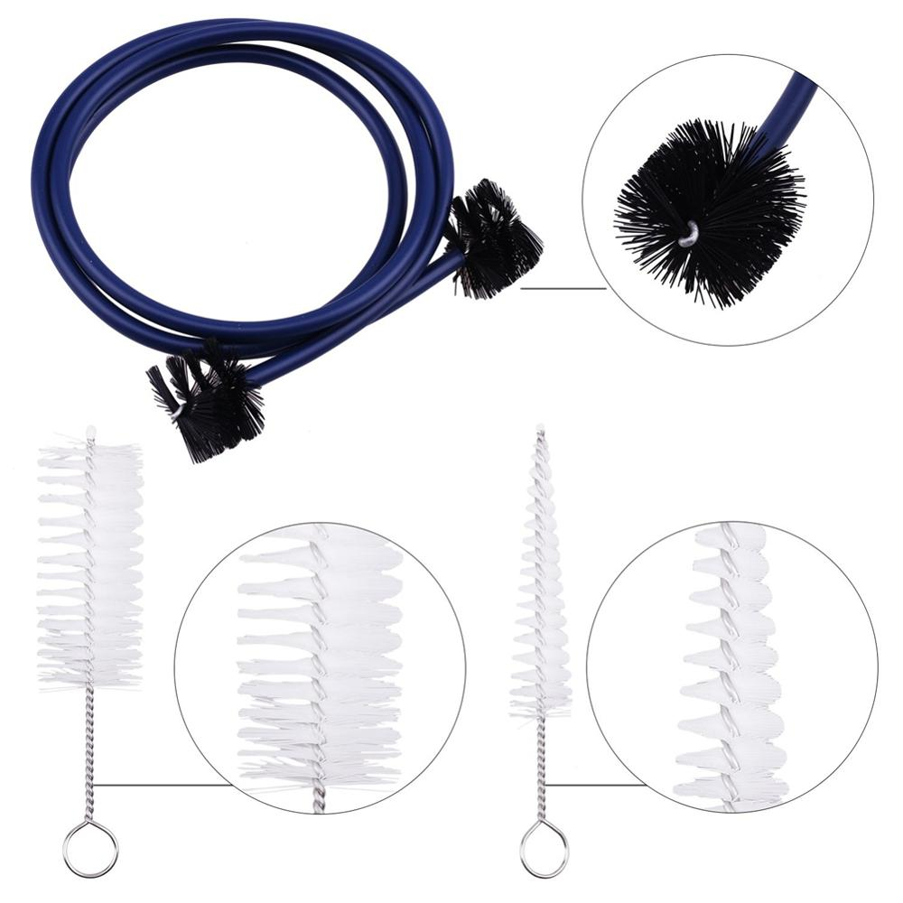 3pcs/ Set For Trumpet Trombone Brass Blowing Nozzle Cleaner Valve Brush Rod Cleaning Kit