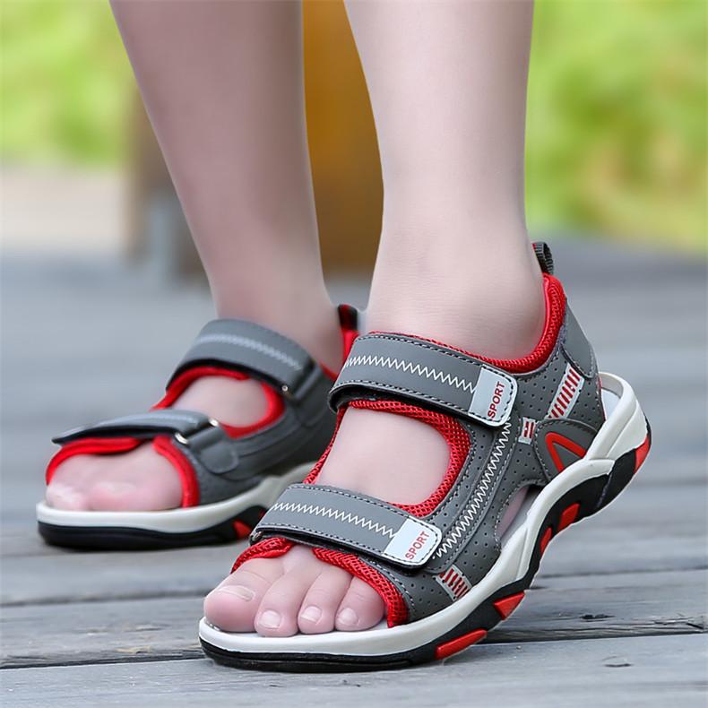 2020 Summer Boys Sandals Kid Sandals Children Shoes Cut-outs Rubber School Shoes Breathable Open Toe Casual Boy Sandal (19)