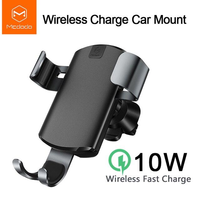 Mcdodo רכב צ י אלחוטי מטען עבור iPhone XR XS מקסימום 8 הכבידה מחזיק מהיר טעינה אלחוטי אוויר Vent הר עבור רכב טלפון מטען
