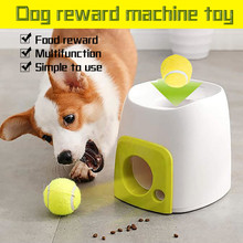 Dog Slow Feeder Toy Tennis Ball Thrower Food Rewarded Machine Training Pet Toy