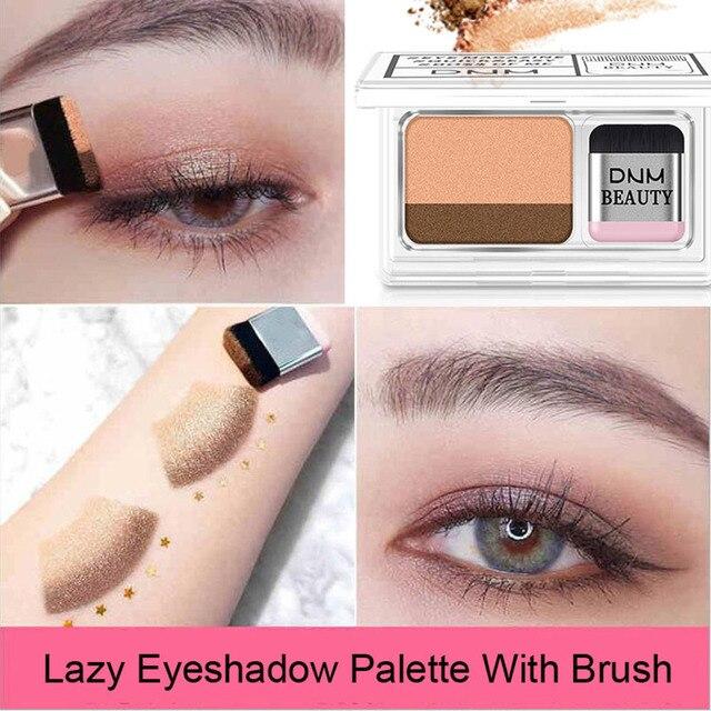 Double Color Gradient Lazy Eye Shadow Makeup Palette Glitter Waterproof Glitter Eyeshadow 3