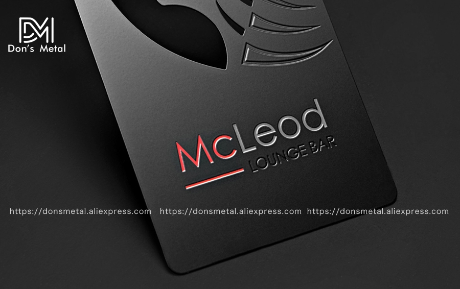 Dumb black metal card black metal business card creative  production high-grade metal membership card business card