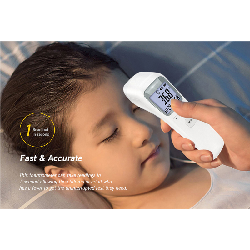 Infrared Baby Adult Electronic Thermometer LCD Digital Thermometer Without Battery Baby Forehead Non-touch Temperature Meter