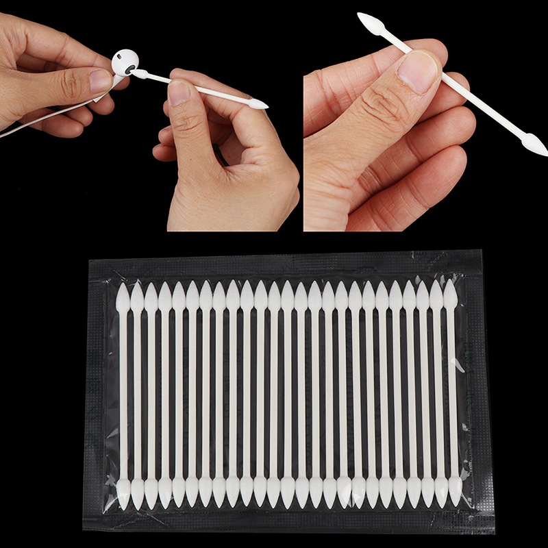 25Pcs Double Head Cotton Swab Women Makeup Cotton Buds Tip For Earphone Charge Port Cotton Stick For Ear Cleaning