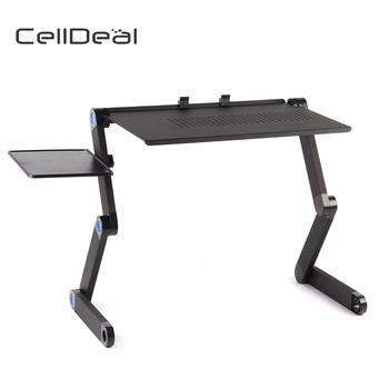 Adjustable Portable Folding Laptop Desk Computer Table Stand Tray for Bed Useful Side Tables Furniture Living Room - discount item  46% OFF Office Furniture
