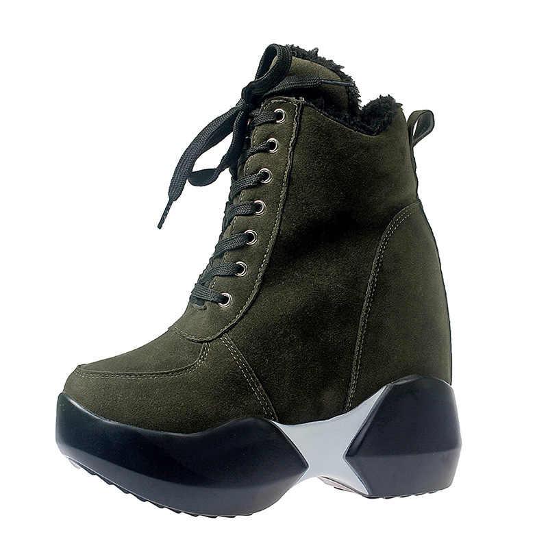 Nieuwe Winter Laarzen Ronde Neus Enkellaars Voor Vrouwen Wol Vrouwen Schoenen Bont Laarzen Nieuwe Witte Snowboots Bont Pluche warm Enkellaarsjes