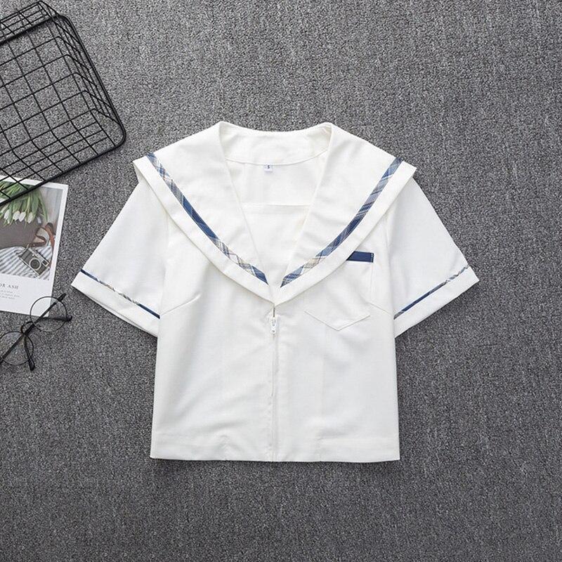 School Dresses Navy Blue Plaid Pleated Skirt High Quality JK Uniform Skirt Students Girls Cosplay Anime Sailor Suit Short Skirts