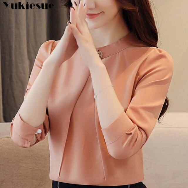 fashion woman blouses 2020 long sleeve chiffon blouse shirt long sleeve women shirts womens tops and blouses blusas femininas 2
