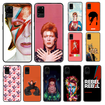 Rock David Bowie Phone case For Samsung Galaxy S 3 4 5 6 7 8 9 10 E Plus Lite Edge black luxury waterproof tpu shell pretty image