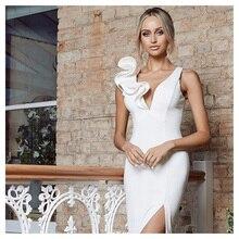 Wholesale 2020 summer woman's dress White V-neck Tight sexy Leisure celebrity bo
