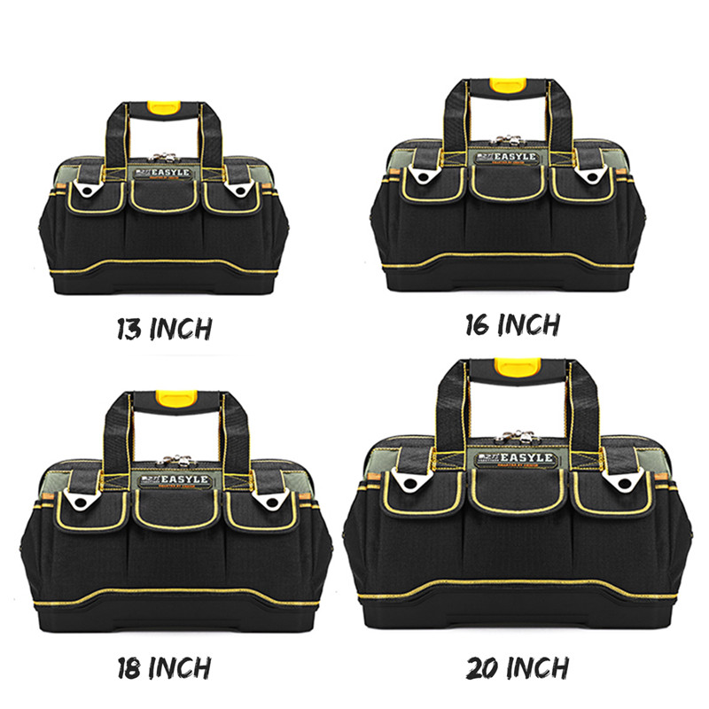 Electrician Tool Bag Holder Tool Bag Heavy Duty Tool Plastic Bottom Tools Storage Case Carrier Parts Box