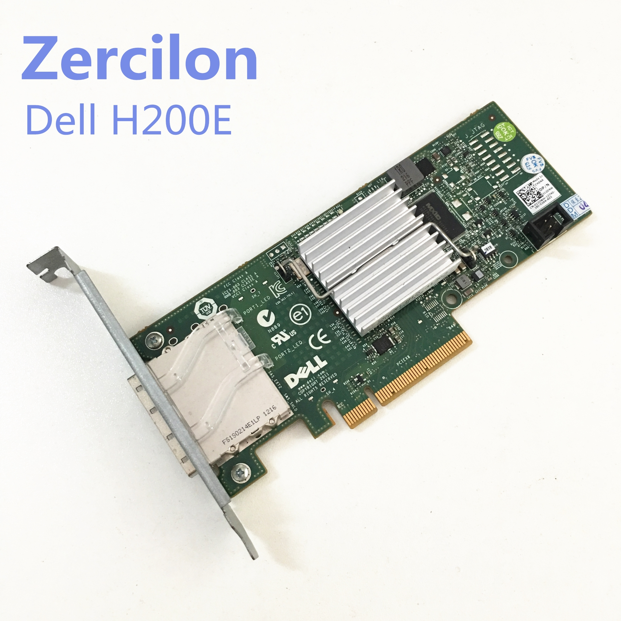 Used Original DELL H200E 6GB HBA SAS Channel Card 2 Port Ext SFF-8088 12DNW LSISAS2008=LSI 9200-8E