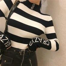 Женский свитер осенний новый с высоким воротником толстый в