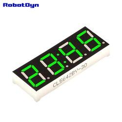 5 штук в упаковке = 4-значный 7-сегментный светодиодный Дисплей трубки, часы/сомнения светодиодный ОТС, зеленый, объем. Размер 50x19 мм, 0,56 дюйма
