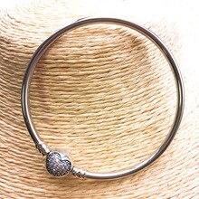 YPD33 925 Серебряный циркониевый браслет Девочка День Рождения Вечеринка DIY браслет подарок