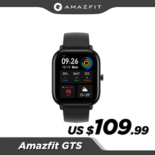 Amazfit-Reloj inteligente GTS, dispositivo resistente al agua de 5 ATM, con GPS y control de música, batería de 14 días, correa de cuero o silicona, versión global