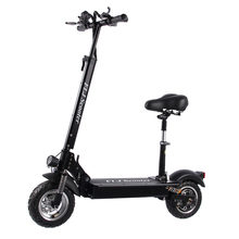FLJ Newest Electric Scooter for Adults with seat 48V/1200W / 500W kick scooter foldable big wheel electro bike(China)