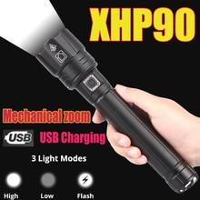 XHP90.2 XHP70.2 LED Flashlight most powerful Flashlight 18650 26650 USB Torch Lantern Hunting Lamp Hand Light USB Rechargeable