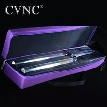 CVNC 440Hz או 432Hz 20mm ברור קוסמי אור קוורץ קריסטל שירה כוונון מזלג עם משלוח סגול תיק