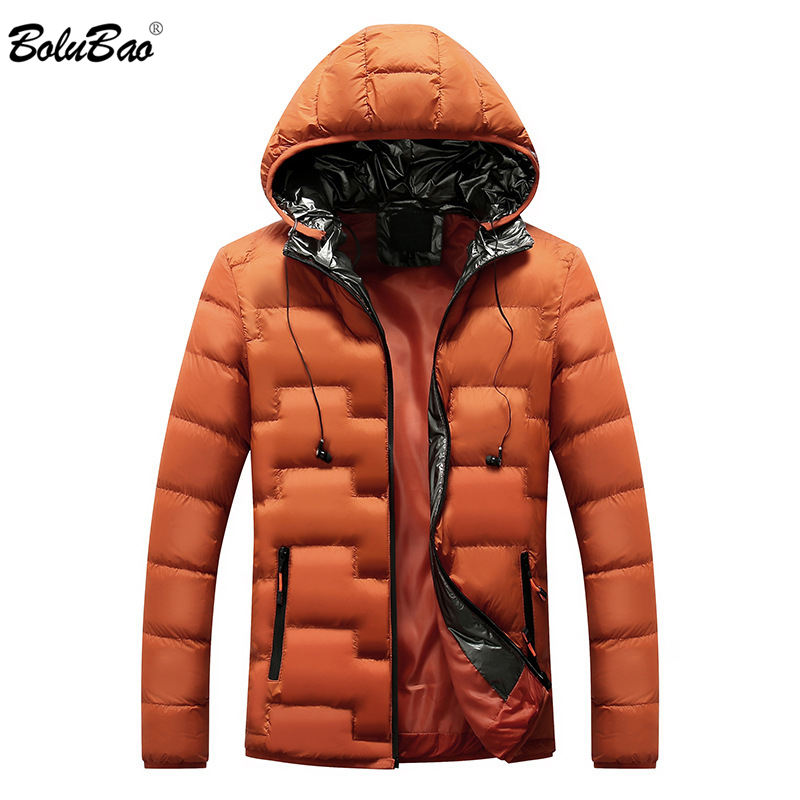 BOLUBAO Male Parka Winter Men Portable Headset Parkas Jacket Coat Men's Personality Solid Color Parkas