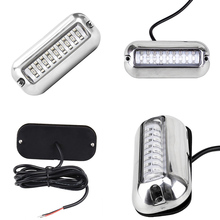 Blue 27 LED Underwater Boat/Marine Transom Lights Stainless Steel Pontoon _WK