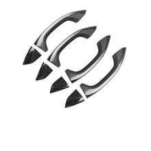 цена на ABS ChromeCarDoor Handle Trim Strips Sticker Cover For Audi A6L A7 2019 Car Styling Exterior DecorationAccessories