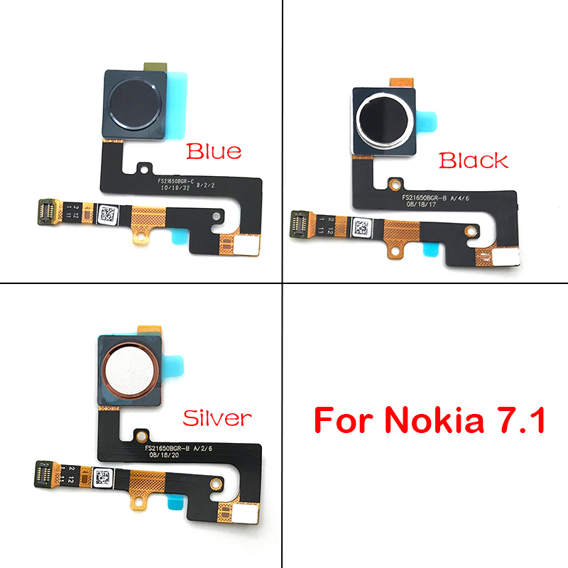 New Home Finger Reader Fingerprint Reader Sensor Home Button Flex Cable For <font><b>Nokia</b></font> <font><b>7.1</b></font> Replacement Parts image