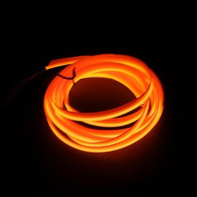 Подсветка для салона автомобиля 1 м/2 м/3 м/5 м полосы Авто Светодиодная лента гирлянда EL провод веревка украшение автомобиля неоновый светодиодный светильник Гибкая канатная трубка - Испускаемый цвет: Orange