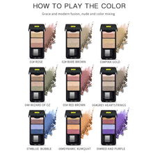 Glitter Eye Shadow Pearlescent Shimmer Double-layer Gradient  Pigment Long-lasting Cosmetics Makeup Palette Maquiagem