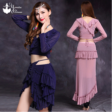 2020 New Brand Belly Dance Long Skirt Hip Scarf High Quality Sexy Bellydance Costume Set Adult Beginner Dance Practice Clothes