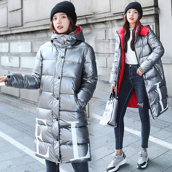 Winter Women Parkas 2020 Korean Female Black Coats and Jackets Long Loose Warm Ladies Cotton Clothes Bubble Coat oversize winter puffer jackets for women female korean loose long sleeve coats woman parkas fashion warm coats and jackets women
