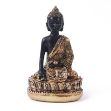 Vintage Buddha Statue Lotus pedestal India Sculpture Hindu Fengshui Meditation Figurine Home Decoration Accessories