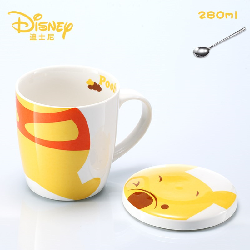 280ml Disney Winnie The Pooh Water Cup Coffee Milk Tea Breakfast Ceramic Mug Home Office Collection Cups Festival Children Gifts