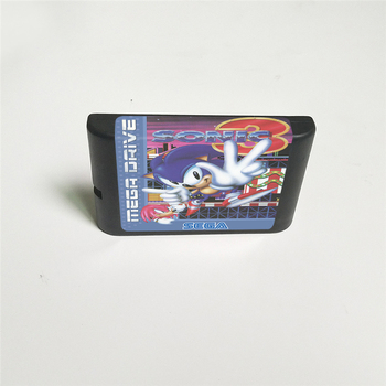 Sonic the Hedgehog 3 - EUR Cover With Box 16 Bit MD Game Card for Megadrive Genesis Video Game Console 2