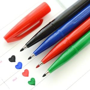 Image 4 - Японская ручка маркер S520 с гибким наконечником, различные цвета упаковка 12