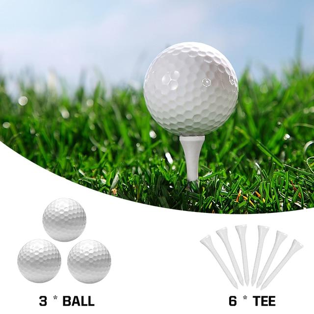 11 PCS Golf Accessories Kit with 6 Golf Tees 3 Golf Balls Divot Repair Tool Leather Box Set Golf Trainning Gift 5