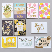 10sets Mini Stamping Greeting Card  Thank You Gift Coco Disney Beach Wedding Decorations