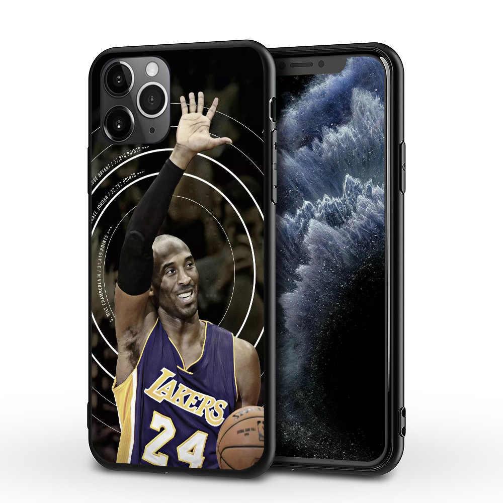 고베 전설 휴대 전화 케이스 애플 아이폰 6 7 8 11 XS 보호 전화 플라스틱 쉘 충격 방지 커버 농구